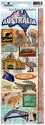 Australia 2 Cardstock Stickers - Paperhouse