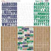 Dapper Dan Alpha & Words Stickers - Glitz