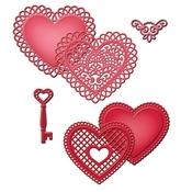 Lace Hearts Metal Die - Shapeabilities - Spellbinders
