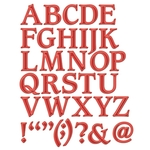 Font One Uppercase Alphabet Metal Die - Shapeabilities - Spellbinders