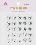Clear Twinkle Hearts - Queen & Co