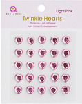 Light Pink Twinkle Hearts - Queen & Co