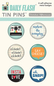 Snapshots Tin Pins - Daily Flash - October Afternoon