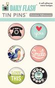 Girl Talk Tin Pins - Daily Flash - October Afternoon
