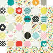 Hula Hoop Die Cut Paper - Hey Kid - Pink Paislee