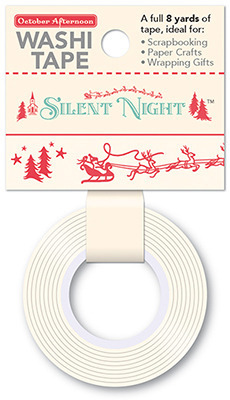 Eight Tiny Reindeer Washi Tape - Silent Night - October Afternoon