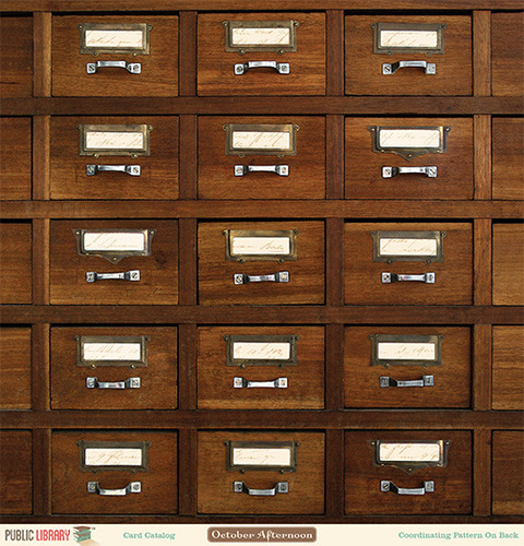 Card Catalog Paper - Public Library - October Afternoon