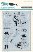 A Pirate's Life Rubber Stamp - Treasure Map - October Afternoon