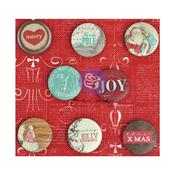 Holiday Jubilee Flair Buttons - Prima