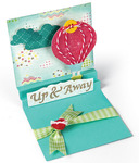 Square Card With Center Accordion Folds Thinlits Die Set - Sizzix
