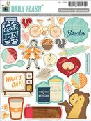 Apple Cider Shape & Label Stickers - October Afternoon