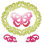 Butterfly Flourishes & Frame Thinlits Die Set - Sizzix