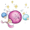 Magic Christmas Ornament Cling Stamp - Magnolia