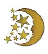 Crescent Moon & Stars Bigz Die - Sizzix