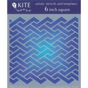 Gum Wrapper Weave 6 x 6 Kite Stencil - Judi Kins
