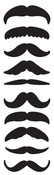 Mustache Stickers - Mrs. Grossmans