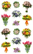 Beautiful Bouquets Stickers - Mrs. Grossmans