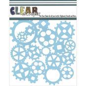 Gears 6 x 6 Mask Stencil - Clear Scraps