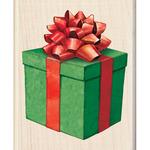 Present Wood Stamp - Inkadinado