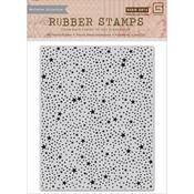Tiny Star Background Cling Stamp - RSVP - Basic Grey