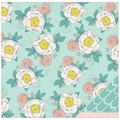 Flourishing Flowers Paper - Polka Dot Party - Dear Lizzy