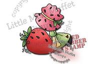 Sunbonnet Strawberry Big Rubber Stamp - Little Miss Muffet
