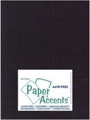 Black Linen 8.5 x 11 Paper Accents Cardstock 25 Pkg