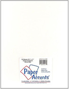 White Smooth 8.5 x 11 Paper Accents Cardstock 25 Pkg