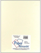 Cream Smooth 8.5 x 11 Paper Accents Cardstock 25 Pkg