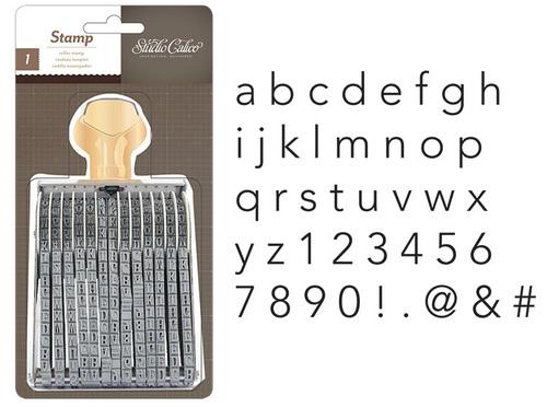 Studio Calico Printshop Alphanumeric Lowercase Roller Stamp