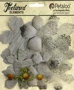 Grey Textured Blossoms - Petaloo