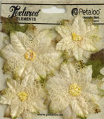 Ivory Textured Poinsettias - Petaloo