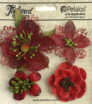Red Mixed Textured Blossoms - Petaloo