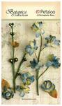 Grey Blue Floral Ephemera - Petaloo