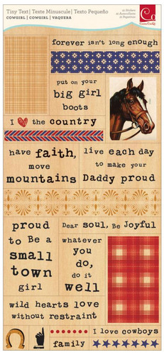Cowgirl Tiny Text Stickers - Cosmo Cricket