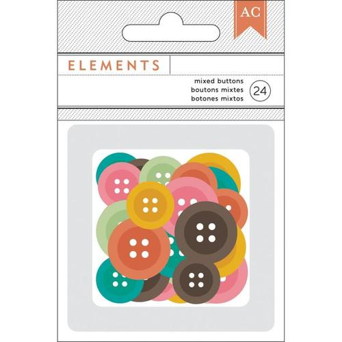 Autumn Crisp Buttons - American Crafts