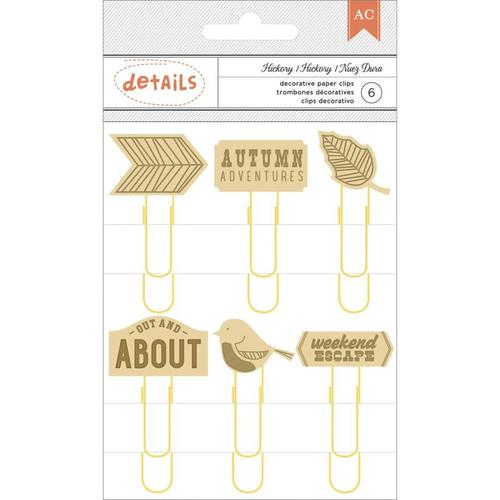 Hickory Paper Clips - Autumn Crisp - American Crafts