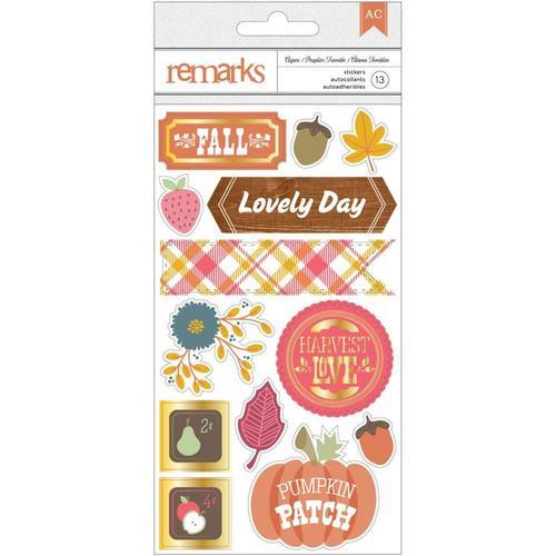 Aspen Foil Accented Stickers - Autumn Crisp - American Crafts
