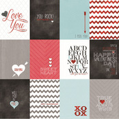 Love Journal Cards Foiled Paper - Cupids Arrow - My Minds Eye