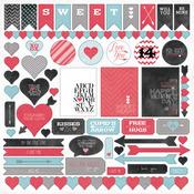 Cupids Arrow 12 x 12 Sticker Sheet - My Minds Eye