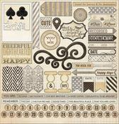 Antique 12 x 12 Sticker Sheet - Lost & Found Record It - My Minds Eye
