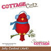 Jolly Cardinal 4 x 4 Metal Die - Cottage Cutz