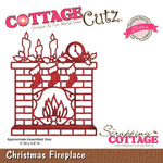 Christmas Fireplace Metal Die - Cottage Cutz