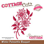 Winter Poinsettia Bouquet Metal Die - Cottage Cutz