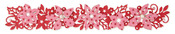 Winter Florals Sizzlits Decorative Strip Die - Sizzix