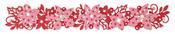 Winter Florals Sizzlits Decorative Strip Die - Sizzix