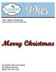 Merry Christmas Metal Die - Elizabeth Craft