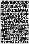 Funky Black Alpha Stickers - Karen Foster