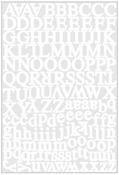 Headline White Alpha Stickers - Karen Foster