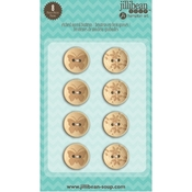 Etched Wood Buttons Stampables - Jillibean Soup